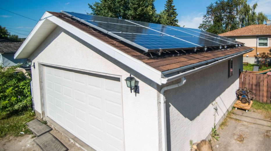 grid-tied solar PV system in Bowness, Calgary, Alberta